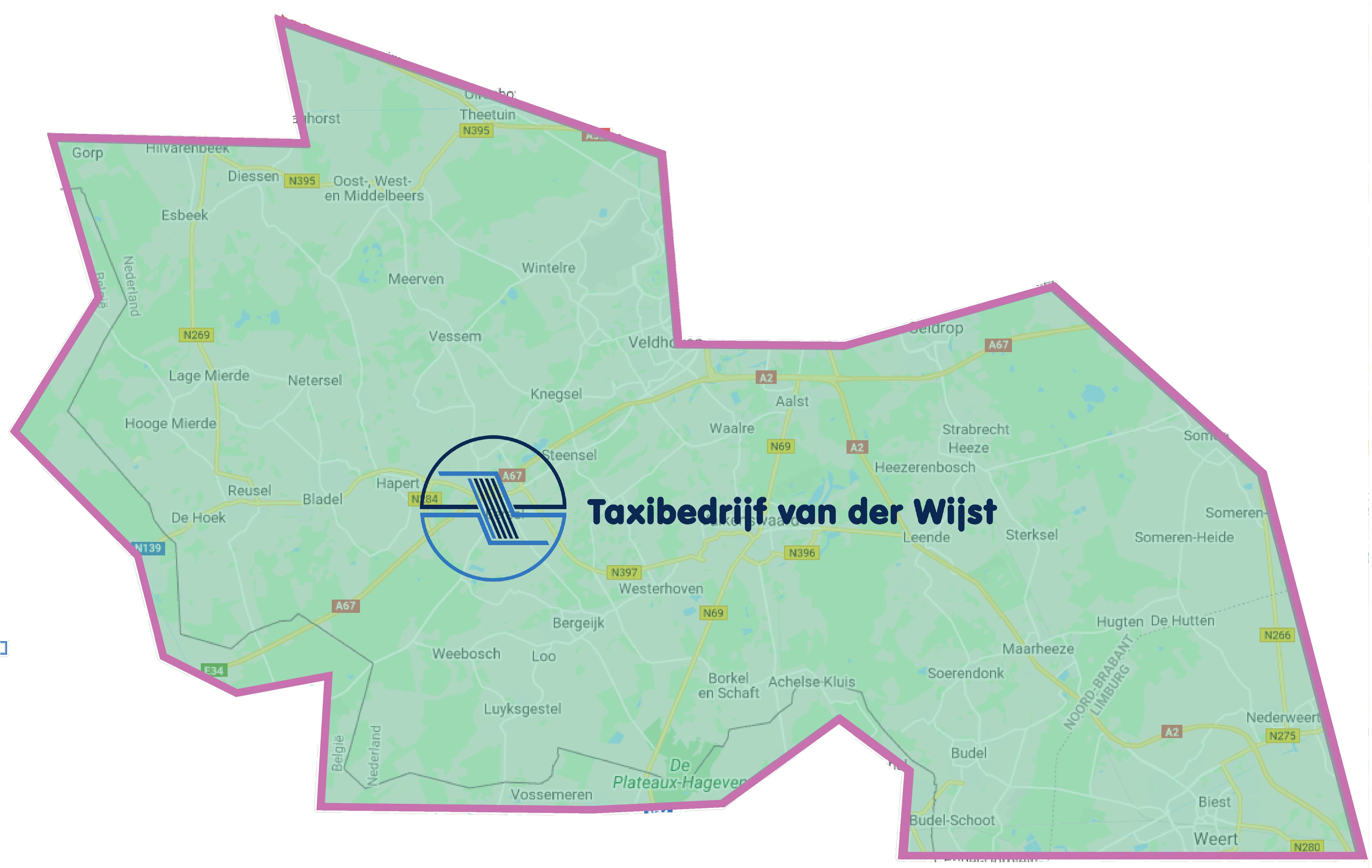 Taxibedrijf_VanDerWijst_Kaart